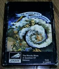 THE MOODY BLUES - A QUESTION OF BALANCE Rare 8 Track Tape with SLEEVE Great4FANS