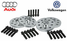 4 PC AUDI 5x112 VOLKSWAGEN 5x100 STAGGERED 15 & 20 MM WHEEL SPACERS 14x1.5 BOLTS