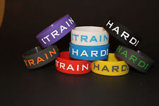 INSPIRATIONAL MOTIVATIONAL SAYING WRISTBAND TRAIN HARD