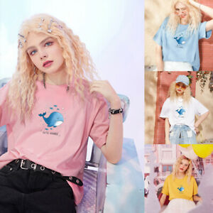 Print cartoon Short sleeve tees girl style cotton much colour Top women clothes