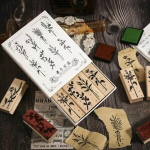 Botanical Garden Wooden Rubber Stamps Vintage Stamp Decoration Stamp