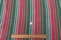 "Vintage c1940s Striped Cotton Barkcloth Yardage Fabric~L-46"" X W-27"""