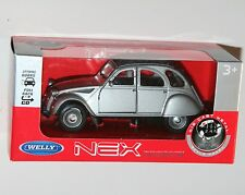Welly - CITROEN 2CV (Grey) Model Scale 1/39