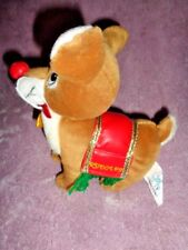 Christmas Rudolph Red Nose Reindeer Stuffed Plush NANCO Toy Connection 2001 VTG