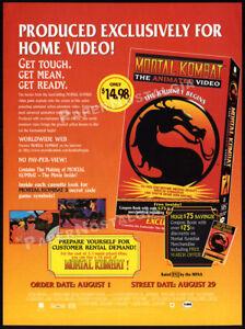 MORTAL KOMBAT: The Journey Begins__Orig 1995 Trade print AD / ADVERT__animated