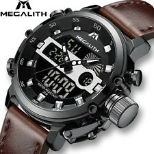 Megalith Mens Rugged LED Tactical Luminous WaterproofMilitary Style Watch