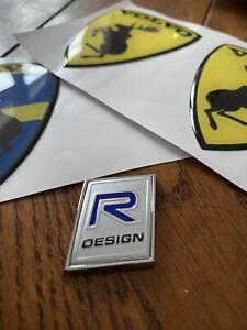 VOLVO R DESIGN BADGE/STICKER 3D aluminium