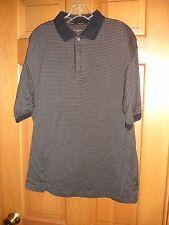 Gary Player men's polo shirt size M Medium SS USED WORN black tan white