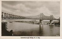 NEW YORK CITY – Queensboro Bridge Queensborough Real Photo Postcard rppc