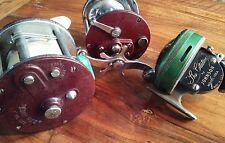 Vtg Fishing Reel Lot of Penn  309 , Penn Peer 209 and Johnson The Citation 110A