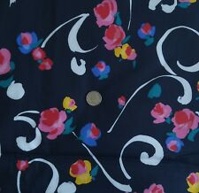 "Cranston Fabric ABSTRACT FLORAL on Black & White Schwartz Liebman 44""W x 3¼ Yds"