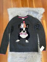 HEYTON FRENCH BULLDOG Frenchie Dog Sweater Lambswool Bling Pom Pom Sz Medium NWT