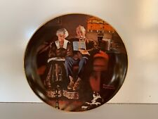 Vintage Edward M. Knowles 8 Inch Collectors Plate By Norman Rockwell.