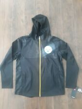 New Mens NFL Pittsburgh Steelers Football Hooded Jacket Size Large