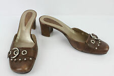 JANET & JANET MULES CUIR MARRON NUANCE T 39 TBE