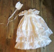 New listing Vintage Lee Middleton Original Doll Clothing Christening Gown Hair in Bonnet