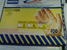 80 BOXES OF 100-Pack North Safety Disposable Gloves Large Ambidextrous Clear