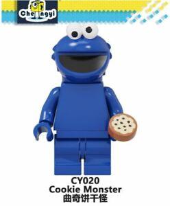 SESAME STREET Movie Character COOKIE MONSTER Funny Minifigure Marvel Lego MOC