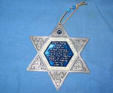 Vintage Pewter Enamel Jewish Star MEIR COHEN Judica Israel FREE SHIPPING