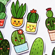 60 Cactus Stickers, Kawaii Stickers Journal, Planner Stickers, Scrapbooking