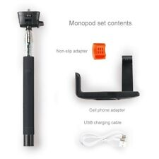 Monopod extendable selfie stick with Bluetooth wireless remote shutter control