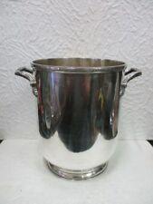 Ancien seau à champagne en métal argenté Christofle (Messageries Maritimes)