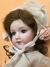 ORIGINAL DRESS & WIG Antique German Armand Marseille Bisque Doll