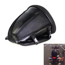 Motorcycle Back Seat Rear Storage Bag Saddle Bag Package Bag Black Universal BID