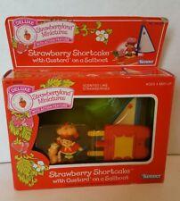 Vintage Strawberry Shortcake Custard Sailboat Strawberryland Miniature NIB