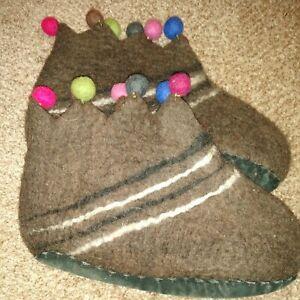 Women's felted wool slippers