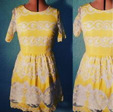 atmosphere yellow white size 6 summer dress