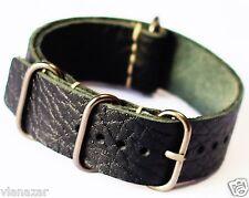 leder  Uhrenarmbander Nato strap Zulu schwarz handgefertigt G10 18/20/22/24mm