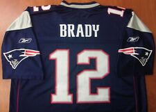 Reebok NFL New England Patriots Football Tom Brady Authentic On Field Jersey XL