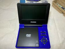 """Sylvania Portable DVD Player 7"""" LCD Screen with Remote Control Blue, SDVD7015"""