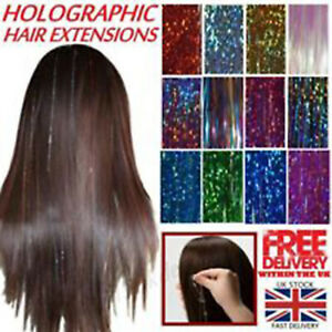 Sparkle Strands Hair Tinsel Sparkle Holographic Glitter Deluxe Fashionable UK