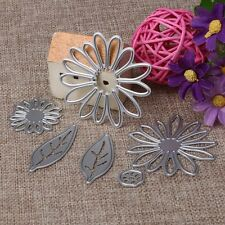 6pcs Scrapbooking Metal Cutting Dies Chrysant Flower Leaves