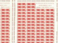 S34988 Italy 1960 MNH Packs Post L.140 Twin Sheet not Folded