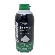 Gillette Foamy Menthol Shave Cream Foam 11 oz Green