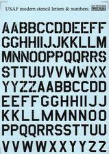 PRINT SCALE 1/48 USAF moderne Pochoir lettres et chiffres Noir #48005