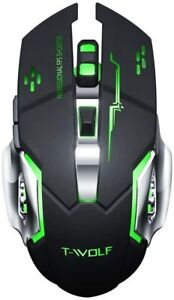 Wireless mouse Gaming 7 Color LED Gaming Mouse Usb Backlit Rechargeable For PC