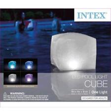 Intex - Flotante LED Cubo Luz Para Piscina, Spas Y Jardines