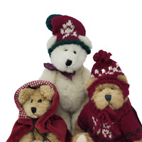 VTG Boyds 3 Plush Teddy Bears Colleen O'Bruin and Fitzgerald O'Bruin and Friend