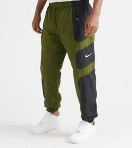 NIKE NSW OLIVE GREEN BLACK RE-ISSUE WOVEN PANTS SIZE S M L XL 2XL