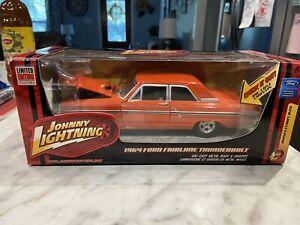 BOXED DIECAST - Johnny Lightning 1:24 1964 Ford Fairlane Thunderbolt - Orange