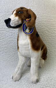 """Melissa and Doug Sitting Beagle Dog  Large 20"""" Plush - Realistic Posable-New"""