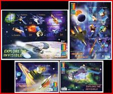 GAMBIA = EXPO 2000 x2 S/S + x2 M/S MNH **  SPACE & ASTRONOMY, CONCORD jet PLANE