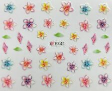 Nail Art 3D Decal Stickers Multicolored Flowers & Seashells E341
