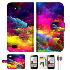 Colorful Cloud Phone Wallet TPU Case Cover For For Telstra 4GX Buzz -- A021
