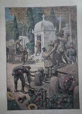 E. DAMBLANS (1865/1945)  - WW1 - SCENE  DE PILLAGE ALLEMAND