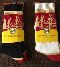 Strideline The Bay San Francisco 49ers Athletic Crew Socks 2 Pairs